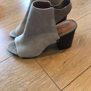 Kenneth Cole Reaction Shoes - Suede open toed booties. Size 8.5. Worn once.